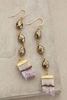 Anthropologie Amethyst Crush Earrings. <3