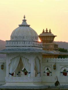 ॐ Udaipur Hindu Palace view, Rajasthan, India - Hinduism architecture ॐ