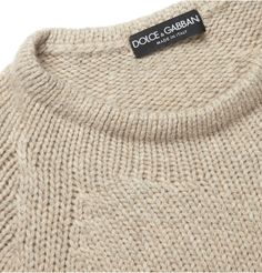 Dolce & Gabbana Knitted Wool and Cashmere-Blend Sweater | MR PORTER
