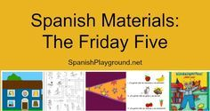 Spanish materials for kids that take little or no preparation. These 5…