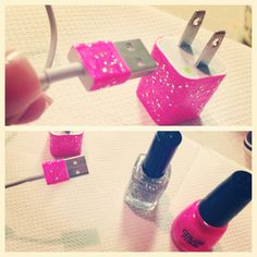 DIY iPhone Charger with Nail Polish :)