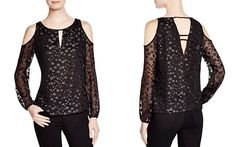 Cooper & Ella Morgan Fil Coup� Cold Shoulder Top