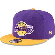 Los Angeles Lakers LA New Era 9FIFTY NBA 2Tone Adjustable Snap Snapback Hat  Cap 9b1b8d4c9d2f