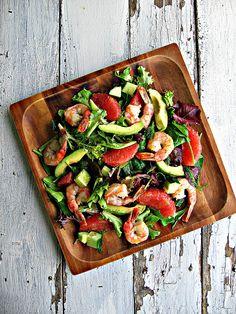 sweetsugarbean: Lighten Up! Grapefruit & Avocado Salad with Shrimp