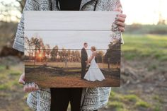 Showcase your favorite photos with a unique and rustic twist. Your picture will be directly printed onto wood with a matte seal finish applied