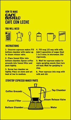 I Café con Leche Café Bustelo Cuban Coffee, Coffee Cafe, Coffee Drinks, Coffee Shop, Puerto Rican Recipes, Cuban Recipes, Cafe Cubano, Cuban Cuisine, Drink Recipes