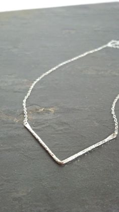 Sterling Silver Hammered Chevron Necklace by ArbotiqueDesigns