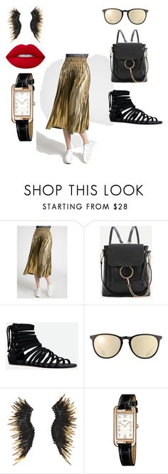 """""""for white shirt"""" by chimy333 on Polyvore featuring Sans Souci, WithChic, JustFab, Ray-Ban, Mignonne Gavigan and Hermès"""