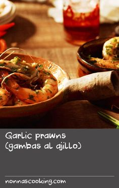 Garlic prawns (gambas al ajillo) | These quick, easy and full of flavour, these Spanish garlic prawns are sure to impress guests at your next dinner party. Simply toss the prawns in a hot wok with olive oil, garlic, lemon zest and parsley for a fragrant taps dish.