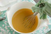 Stir soap until a light trace is reached