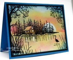 Pink Sunset by annascreations - Cards and Paper Crafts at Splitcoaststampers