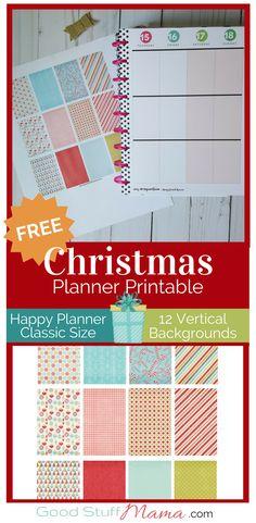 Free Christmas Stickers Planner Printable fits Happy Planner - Glee! Joy!