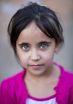 A little Kurdish girl, Iraq. The kurds are scattered around Iraq, Iran, Turkey and several other countries. Although there are millions of them, but they are the only ethnic group that have no country of their own.