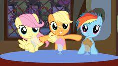 fluttershy,applejack y rainbow dash Festa Do My Little Pony, My Little Pony Comic, My Little Pony Pictures, Rainbow Dash, Equestria Girls, Mlp Memes, Little Poni, Mlp Comics, Imagenes My Little Pony