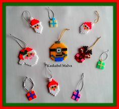 Hama beads navideños, te hago los tuyos. Sígueme en fb.