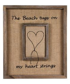Another great find on #zulily! 'Heart Strings' Stiched Wall Art #zulilyfinds