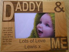 Laser engraved Daddy and Me picture frame - a perfect Father's Day gift!
