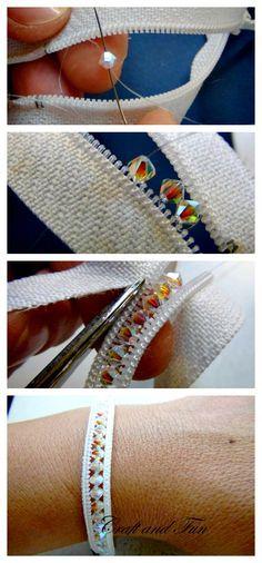 bracelete de ziper