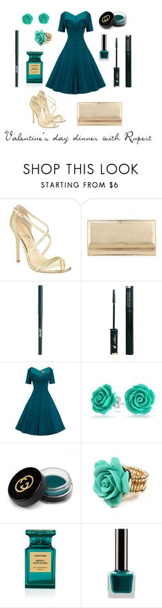 """""""SWD Blood In Roses  - dinner with Rupert"""" by thatshippertypefangirl ❤ liked on Polyvore featuring Ivanka Trump, Jimmy Choo, jane, Lancôme, Bling Jewelry, Gucci, Amrita Singh and Tom Ford"""