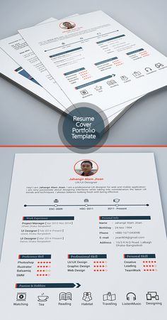Free Resume Template  Page By Jahangir Alam Jisan This Is A