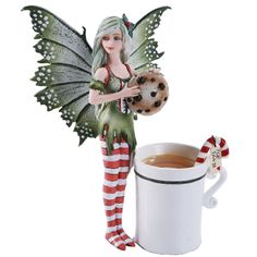 Cup for Santa is part of the Amy Brown Fairy Cup Collection. The detail is as always on Amy Brown Collections there is even a tag for Santa!