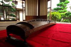 Koto, A traditional Japanese stringed musical instrument.
