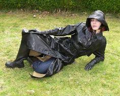 Mackintosh Raincoat, Latex, Chelsy Davy, Rubber Raincoats, Raining Outside, Pvc Raincoat, Rain Gear, Black Rubber, How To Wear