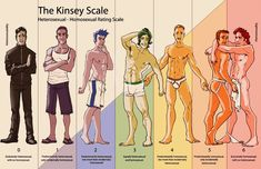 The Kinsey Scale. Report detailed the range of male sexuality–from hetero to gay, & everything in between. Most people, it seems, assume everyone is either straight or gay & that's that. Gay Romance, Same Love, Genderqueer, Lgbt Community, Gay Art, Intj, Gay Pride, Equality, Illustration