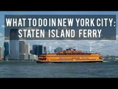 What to do in New York City: Staten Island Ferry - YouTube