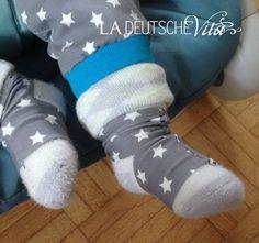 Selbstgenähte #Baby #Socken #Halter #diy - sehr praktisch!