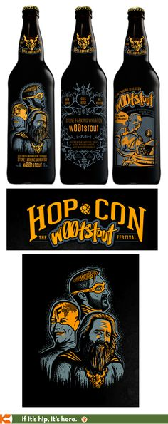 I really want these bottles! A bottle of Drew Curtis / Wil Wheaton / Greg Koch Stone Farking Wheaton To be handed out July at Hop Con. Craft Beer Labels, Wil Wheaton, Beer 101, Beers Of The World, Beer Brands, Beer Packaging, Mead, Beer Brewing, Best Beer