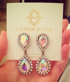 abba earrings in iridescent
