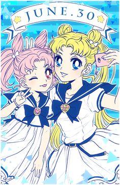 """""""Happy Birthday Sailor Moon & Chibi Moon! by Zombie"""