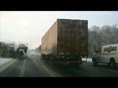 Car Escapes Head On Collision With Semi Truck 1 24 2011 Semi Trucks