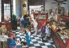 Confectionary Shop (1000  Piece Puzzle by SunsOut)