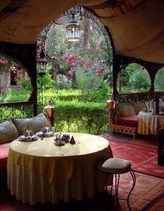 Moroccan outdoor entertainment area
