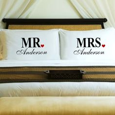 Mr. and Mrs Pillows
