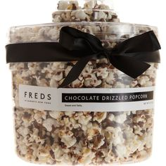FREDS at Barneys New York Chocolate-Drizzled Popcorn Tub ($28) ❤ liked on Polyvore featuring home, kitchen & dining and no color