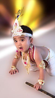 Kid as Lord Krishna Krishna Ashtami, Radha Krishna Images, Cute Krishna, Lord Krishna, Monthly Baby Photos, Baby Boy Photos, Independence Day Wishes Images, Baby Images Hd, Tanzania