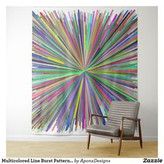 Shop Multicolored Line Burst Pattern Tapestry created by AponxDesigns. Wall Tapestry, Finding Yourself, Tapestries, Abstract, Pattern, Design, Home Decor, Art, Hanging Tapestry