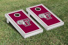 Our Fordham University Rams Cornhole Game Set Border Version. Get your custom set at victorytailgate.com