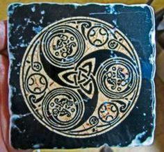The Celtic symbol of three conjoined spirals may have had triple significance similar to the imagery.