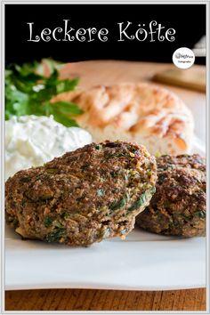 Delicious Köfte-Turkish Meatballs ♥ Recipe I love this vigorously … – Bavece Meatball Recipes, Burger Recipes, Meat Recipes, Turkish Meatballs, Seekh Kebab Recipes, Tzatziki, Cheesecake, Meatloaf, Salmon Burgers