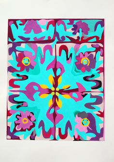 PINTURA - Antonio Abril - Colección: MOSAICOS - Titulo: Mosaico 1 - Técnica: Tempera Mixta - Formato: 50 x 70 cm - Papel 240 Gr - ART MODERNE ET CONTEMPORAIN.
