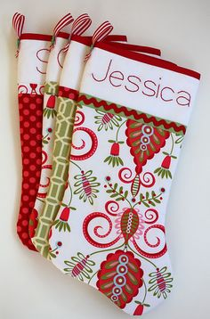Christmas stockings and pattern