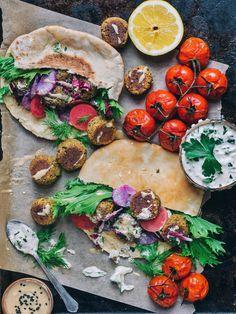 Tempeh & Walnut Falafel with Vegan Tzatziki Sauce - Laws of Bliss