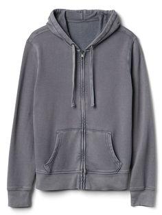 0c1a013d7e12 Gap Mens All-Weather Fleece Zip Hoodie Mercury Grey Zip Hoodie