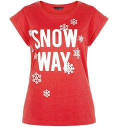 Free delivery available today - Shop the latest trends with New Look's range of women's, men's and teen fashion. T Shirt Diy, Red Shirt, Christmas Slogans, Christmas Onesie, Christmas Clothes, Xmas, Leather Look Skirts, Slogan Tee, Cotton Tee