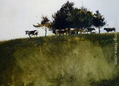 Andrew Wyeth Shadey Trees painting for sale - Andrew Wyeth Shadey Trees is handmade art reproduction; You can shop Andrew Wyeth Shadey Trees painting on canvas or frame. Watercolor Trees, Watercolor Landscape, Landscape Art, Landscape Paintings, Watercolor Images, Contemporary Landscape, Watercolor Paintings, Andrew Wyeth Paintings, Andrew Wyeth Art