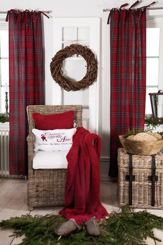 tartan & wicker looking good together :)..thinking...what about the back bathroom which is directly behind another door anyhow, curtains? Lock door #1 for privacy. Curtains - like this- for space issue.